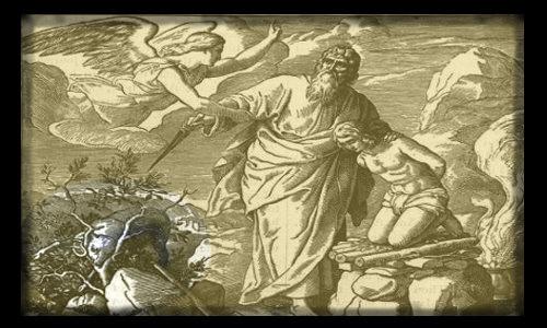 Abraão, Isaque, a ovelha... - PAI CONFIANTE EM DEUS