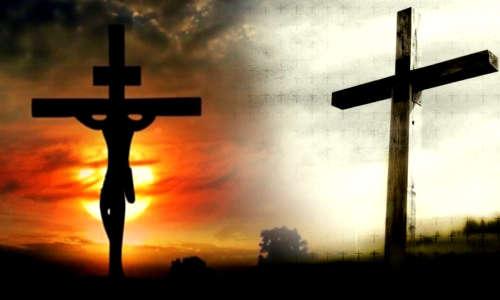 Duas cruzes, uma vazia
