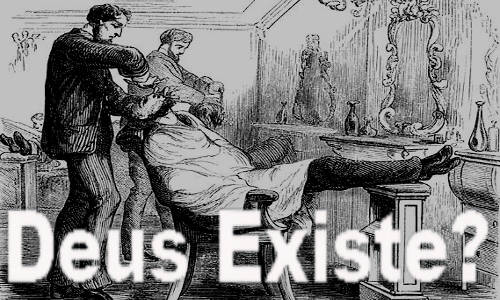 Barbearia com o texto: DEUS EXISTE?