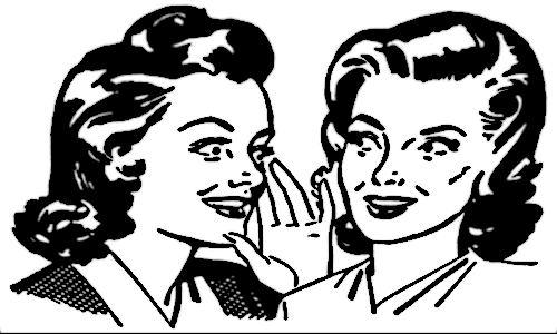 Duas mulheres fofocando