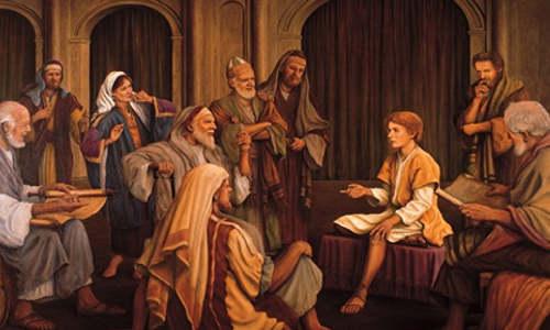 Jesus menino no templo