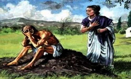 A mulher de Jó está recomendando que ele abandone a Deus
