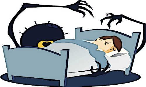 Um monstro atacando durante o sono