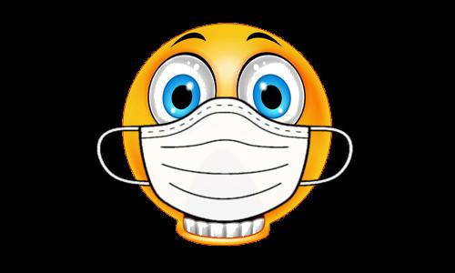 Emoticom com máscara de doente - Teatro Cristão