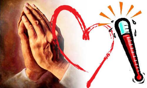 Oração, coração e termômetro