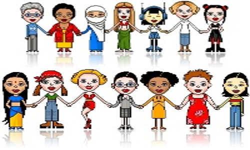 Mulheres de diversas culturas