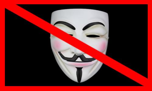 Uma máscara com o sinal de proibido - SERVIR SEM MÁSCARAS