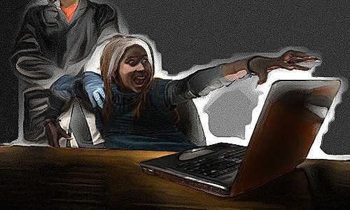 Pânico por ter que se afastar do computador