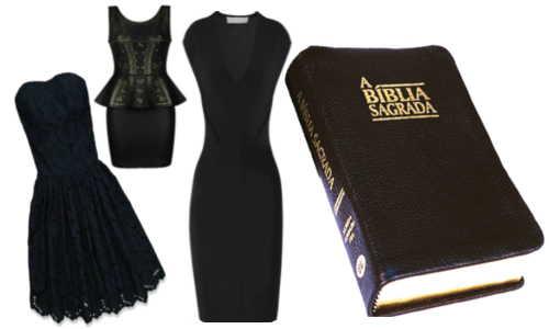 """Vestidos """"pretinhos básicos"""" e o livro basico para a salvação"""