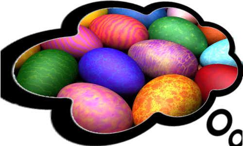 Pensando nos ovos de páscoa