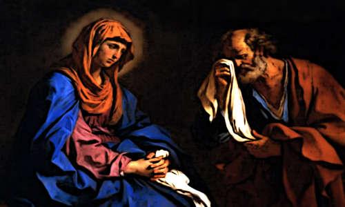 Casal triste pela morte de Jesus