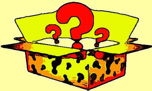 Uma caixa cheia de interrogações
