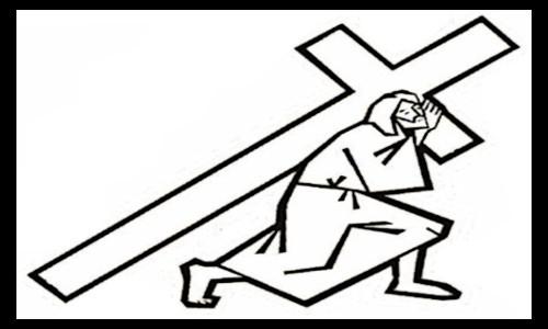 Quadro com Jesus carregando a CRUZ - Teatro Cristão