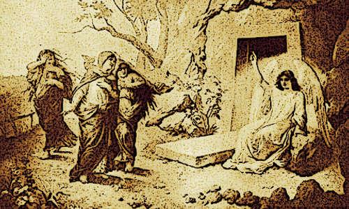 Mulheres chegam no túmulo vazio...