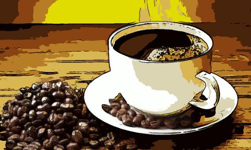 Uma xicara de café e alguns grãos - BEM-VINDO AO CAFÉ DE ORAÇÃO