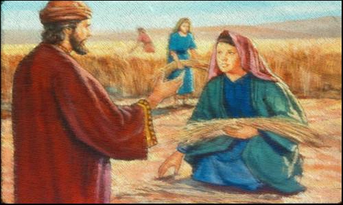 Rute e Boaz no trigal - A MELHOR ESCOLHA