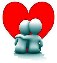 Casal abraçado, bonecos de massinha