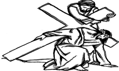 Jesus carregando a cruz - BEM AVENTURADOS OS QUE NÃO VIRAM E CRERAM
