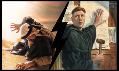 Lutero e as teses, Paulo no caminho de Damasco