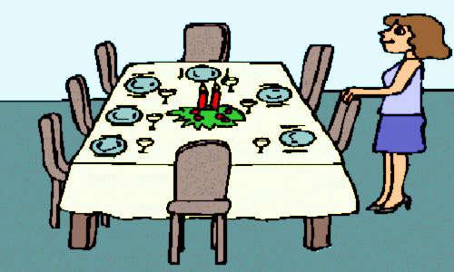 A mesa está posta mas as cadeiras estão vazias