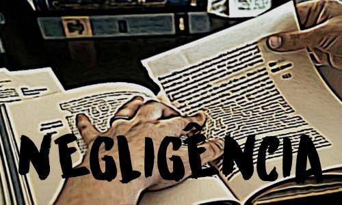 Biblia rasgada e escrito grande - NEGLIGÊNCIA