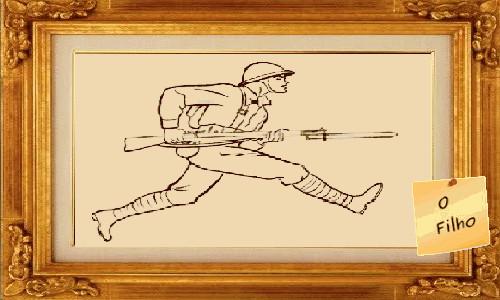O FILHO - Quadro com o desenho de um soldado