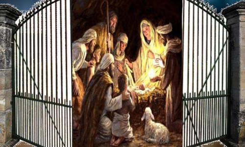 Jesus na manjedoura - A PORTA ENCANTADA DO NATAL