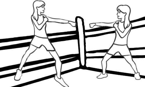 Duas mulheres no ringue - Marta ou MARIA
