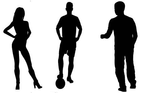 SÓ O NAMORADO NÃO VIU - Silueta de uma gata e dois jogadores de futebol