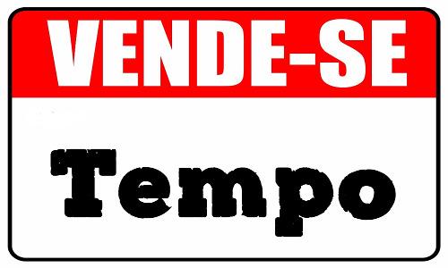 VENDE-SE TEMPO - Placa de venda -  Teatro Cristão
